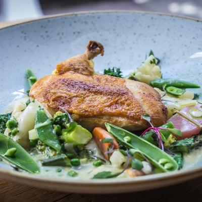 Csirkemell supreme nyári főzelékkel