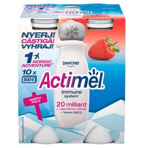 Danone Actimel zsírszegény, élőflórás, eperízű joghurtital