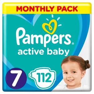 Pampers Active Baby nadrágpelenka - 3 nedvességfelszívó csatornával 15kg+ (7-es méret)