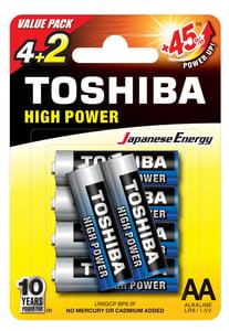 Toshiba alkáli elem AA