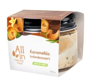 All in Natural Food krémdesszert karamellás