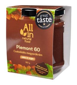 ALL IN natural food Piemont 60 csokoládés mogyorókrém