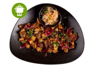 MEATOLOGY HOME / Brassói tarja, sült krumpli, házi savanyúság (900g)