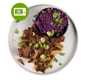 MEATOLOGY GO FOR 2 / BBQ pulled pork, bébikukorica, coleslaw (700g)
