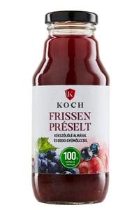 Koch Frissen préselt Kékszőlőlé almával és erdei gyümölccsel