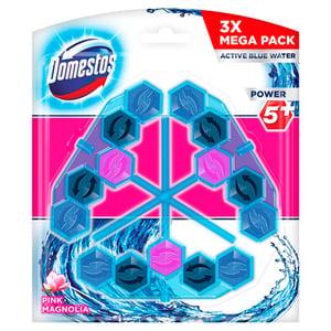 Domestos Power5+ Pink Magnolia Active Blue Water WC Frissítő blokk